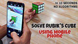 How To SOLVE RUBIK'S CUBE using Mobile Phone screenshot 5