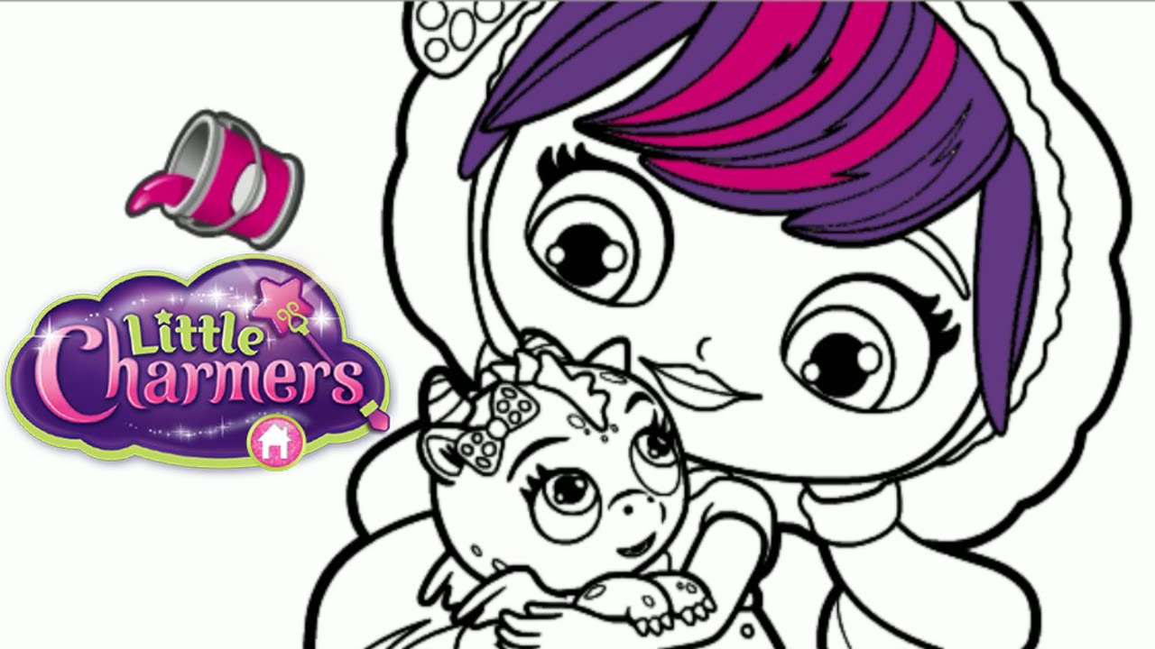 Little Charmers Lavender & Flare Dragon Nick Jr. Coloring Book ...