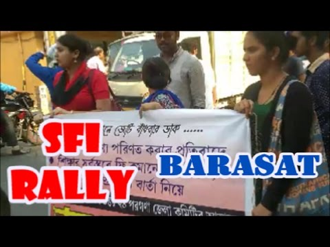 Protest Rally of SFI Students at Barasat, North 24 Parganas