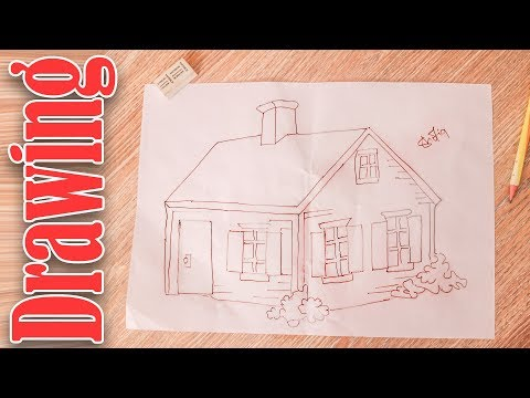 How To Draw || House Sketch Step by Step Tutorial For Kid thumbnail