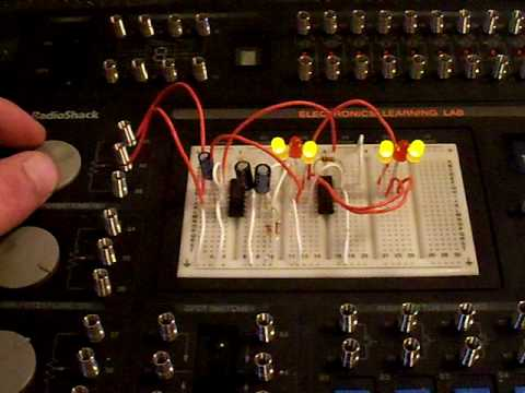 How to make Flashing Police Lights with a 555ic and a 4   Doovi