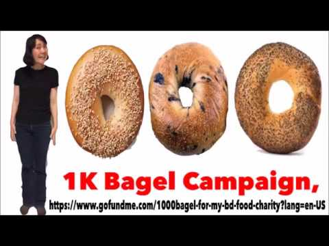 $1000 bagel  fundraiser for my birthday and NYC Food charity (Day 1 of Campaign)