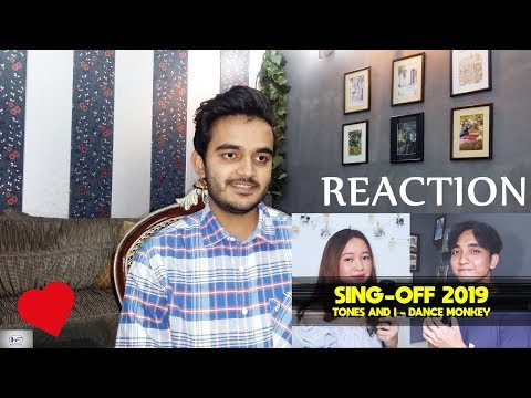 Reaction On: SING-OFF 2019 (DANCE MONKEY By Tones And I) Vs Indah Aqila