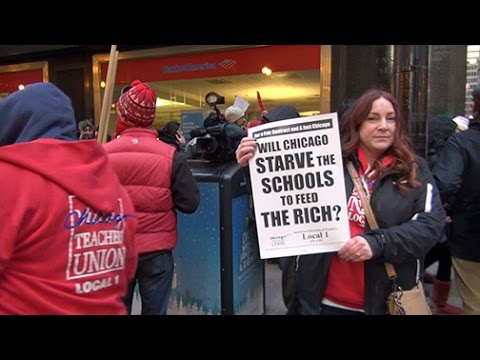 Labor Beat: CTU Protest at BofA & Anti-Layoff March