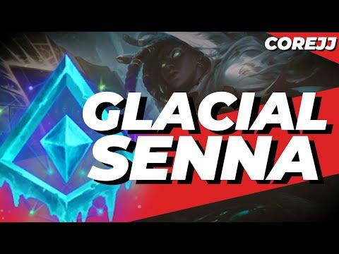 CoreJJ - Glacial Senna Gameplay w/ Insane 4v5 Teamfight   DWG Showmaker, Flame   League of Legends