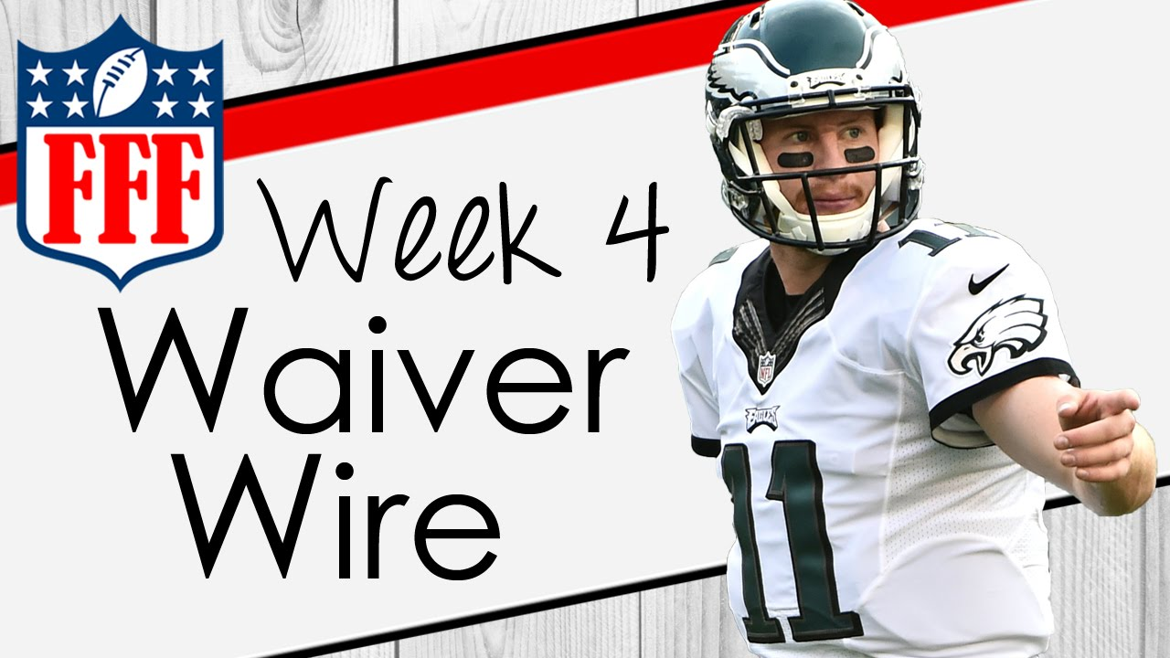 Week 4 Waiver Wire Pickups - 2016 Fantasy Football - YouTube