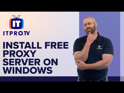 Install Free Proxy Server on Windows
