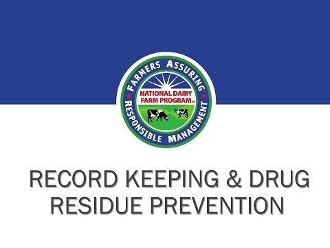 Record Keeping & Drug Residue Prevention An Industry Opportunity
