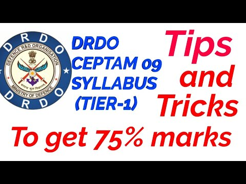 Tips and trick to score 75% marks in DRDO CEPTAM 09