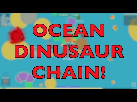 NEW OCEAN DINOSAURS ANIMAL CHAIN IDEA! - Mope.io