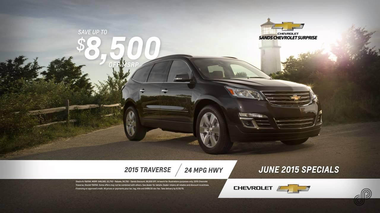 2015 Chevrolet Traverse Offer SP June Sands Chevrolet Surprise