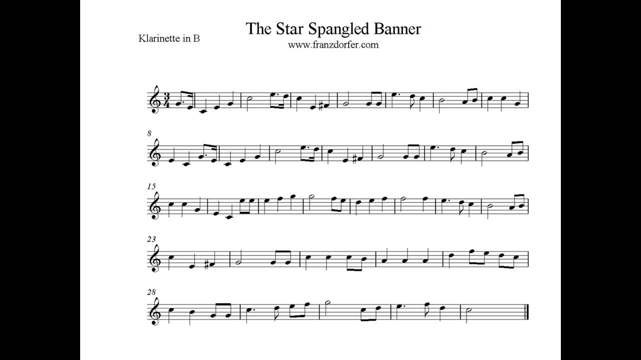 Play Clarinet The Star Spangled Banner Youtube