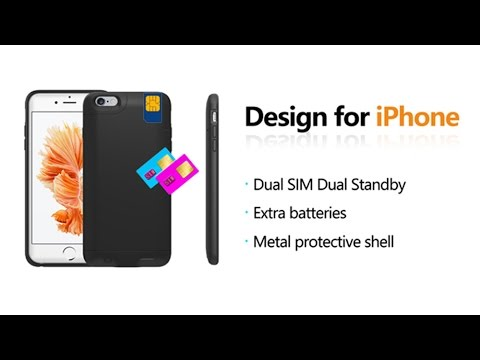 info for 1df44 5acbd For iPhone6/6S/6plus Dual SIM Dual Standby Adapter + Shell Ultra-thin Back  Clip Battery