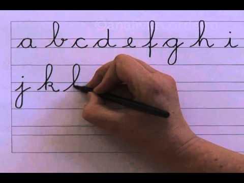 09 alfabeto em letra minúscula cursiva