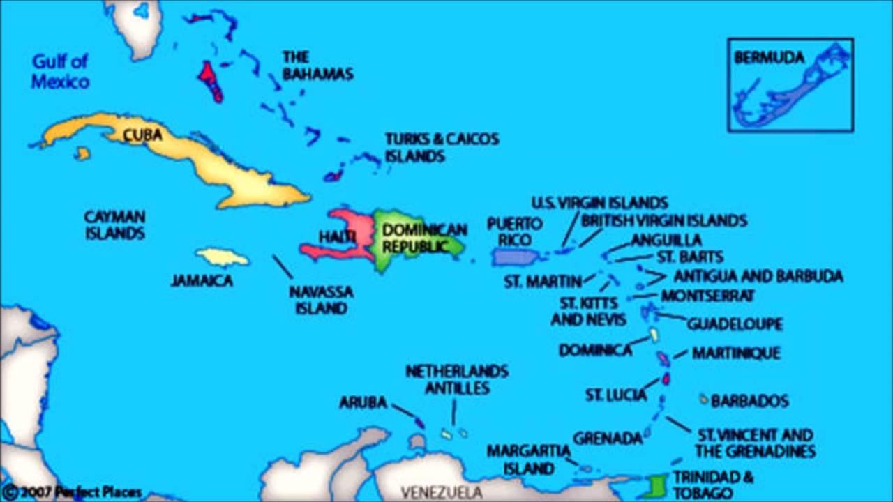 Caribbean Islands Map Quiz