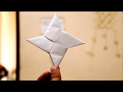 How to Make Ninja Star using A4 size Paper |  Ninja Star - Origami