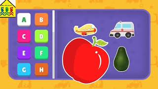 learn the spelling of alphabet A to Z ,nursery rhymes for kids   baby school