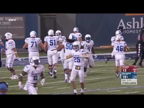 Memphis Football: Memphis Vs Temple Highlights