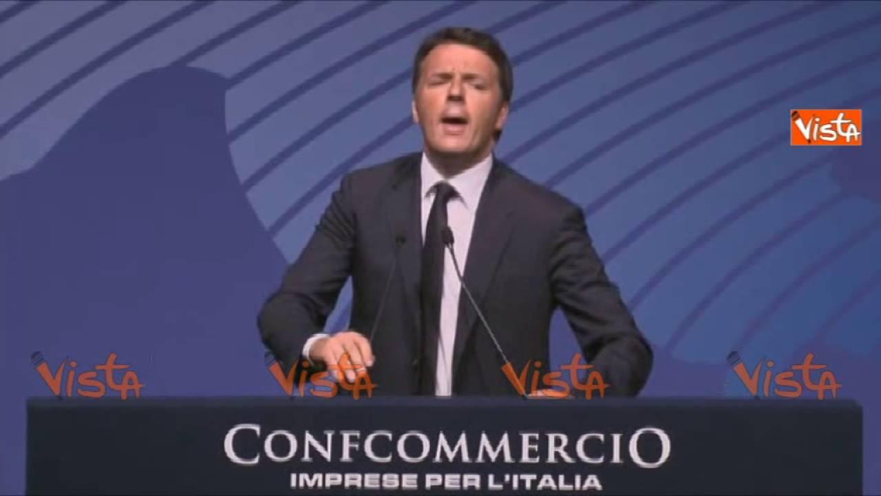 Renzi fischiato ad assemblea Confcommercio: difendo scelta 80 euro 09-06-16