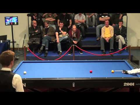 Dick Jaspers: run of 22 in 3-cushion billiards