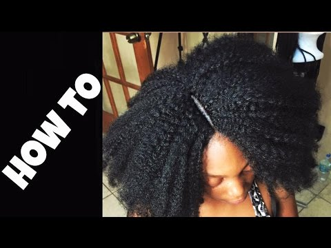 Crochet Braids Part : SUPER NEAT INVISIBLE PART : CROCHET BRAID FunnyCat.TV