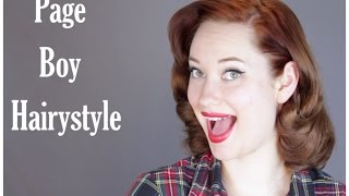 How to Page Boy Hairstyle The Rachel Dixon Vintage Tutorial Pinup Mp3