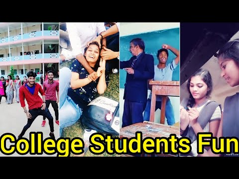 College Boys and Girls Funny TikTok Videos Part-2 College Galatta College Fun #CollegeStudentsTikTok