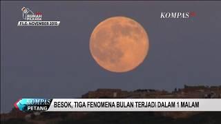 Rabu (31/1), 3 Gerhana Bulan Terjadi dalam 1 Malam