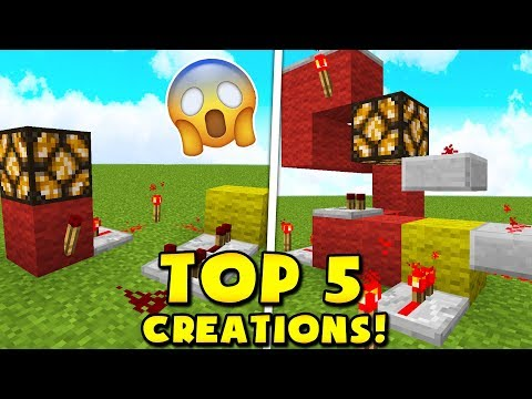 TOP 25 REDSTONE TRAPS & CREATIONS (Minecraft Pocket Edition)