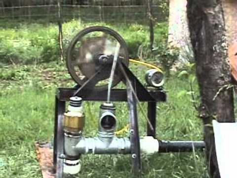 Homemade Hydraulic Pump >> motor de ariete con generador electrico - YouTube