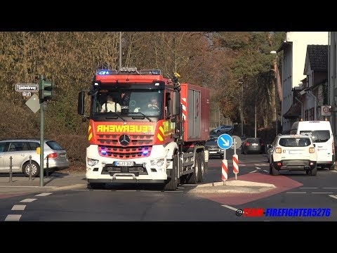 Einsatzfahrten zum Großbrand auf dem Gestüt Erlenhof in Bad Homburg
