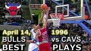 April 14 1996 Bulls vs Cavs highlights