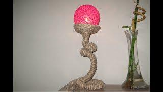 PVC boru ve Urgan ile Abajur Yapımı