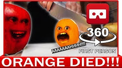 360 VR VIDEO - Funny Annoying Orange Finally Knifed! Dead Parody | VIRTUAL REALITY