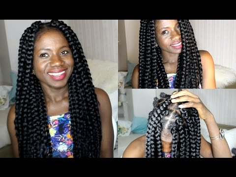 How To Do Big Box Braids Proctective Style Youtube