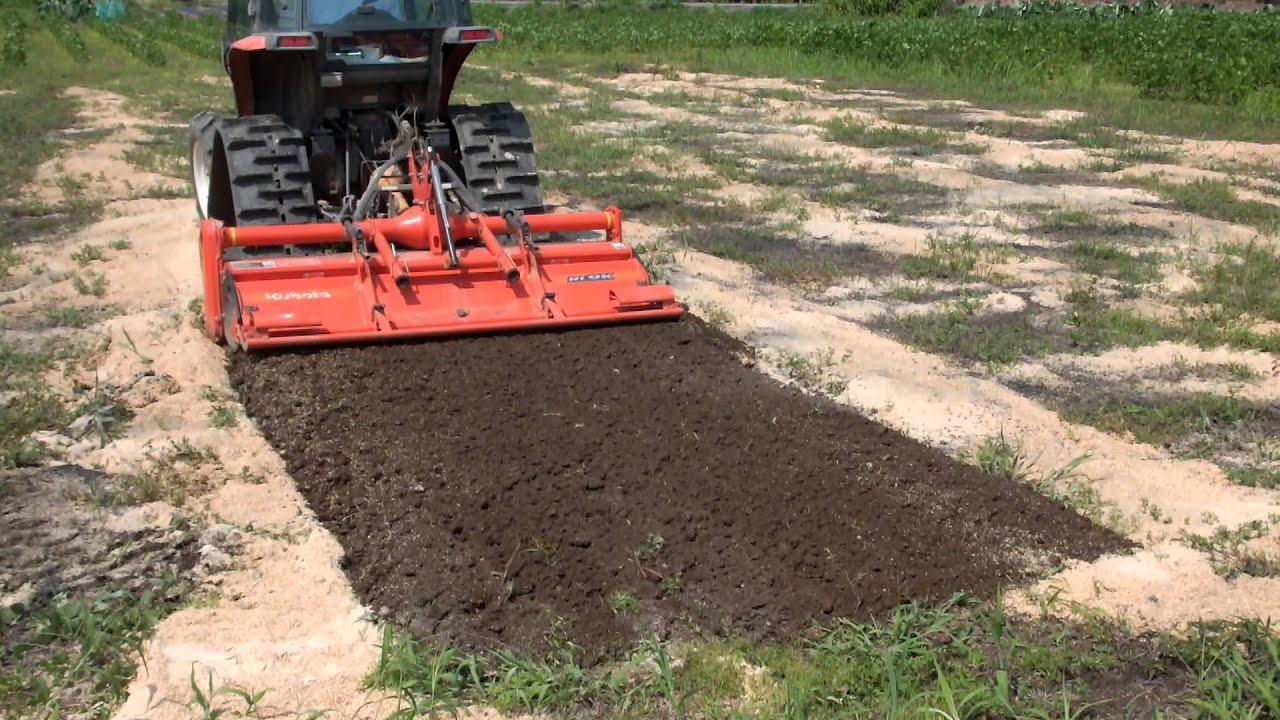 方 図解 耕し トラクター