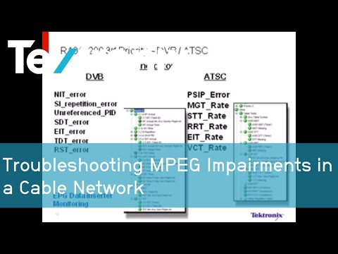 Troubleshooting MPEG Impairments in a Cable Network