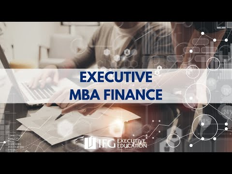 Webinaire d'informations Executive MBA Finance IHFi