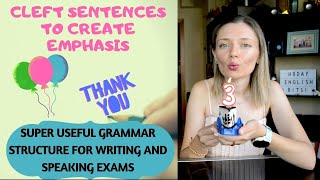 Cleft sentences: a super useful grammar structure for speaking and writing exams! 🎂