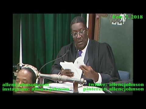 Bahamas House of Assembly - February 7, 2018 - Morning Session