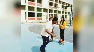Giving some Skating tips to Bollywood Actress Aahana Kumra