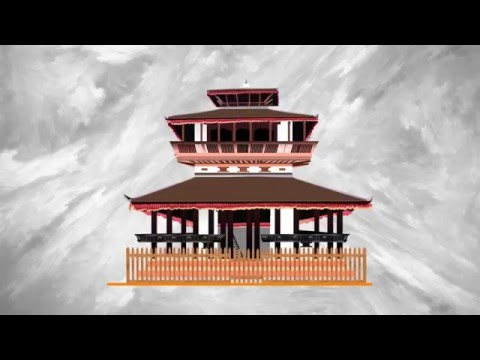 Infographic On Kasthamandap Temple, Nepal Motion Graphic