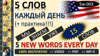 Английский 10 000 слов Английский язык  - 5 слов каждый день (5w-003) Английский с семьей Савченко
