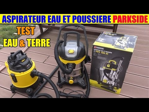 aspirateur eau et poussiere parkside lidl pnts 1500 1400 1300 test. Black Bedroom Furniture Sets. Home Design Ideas
