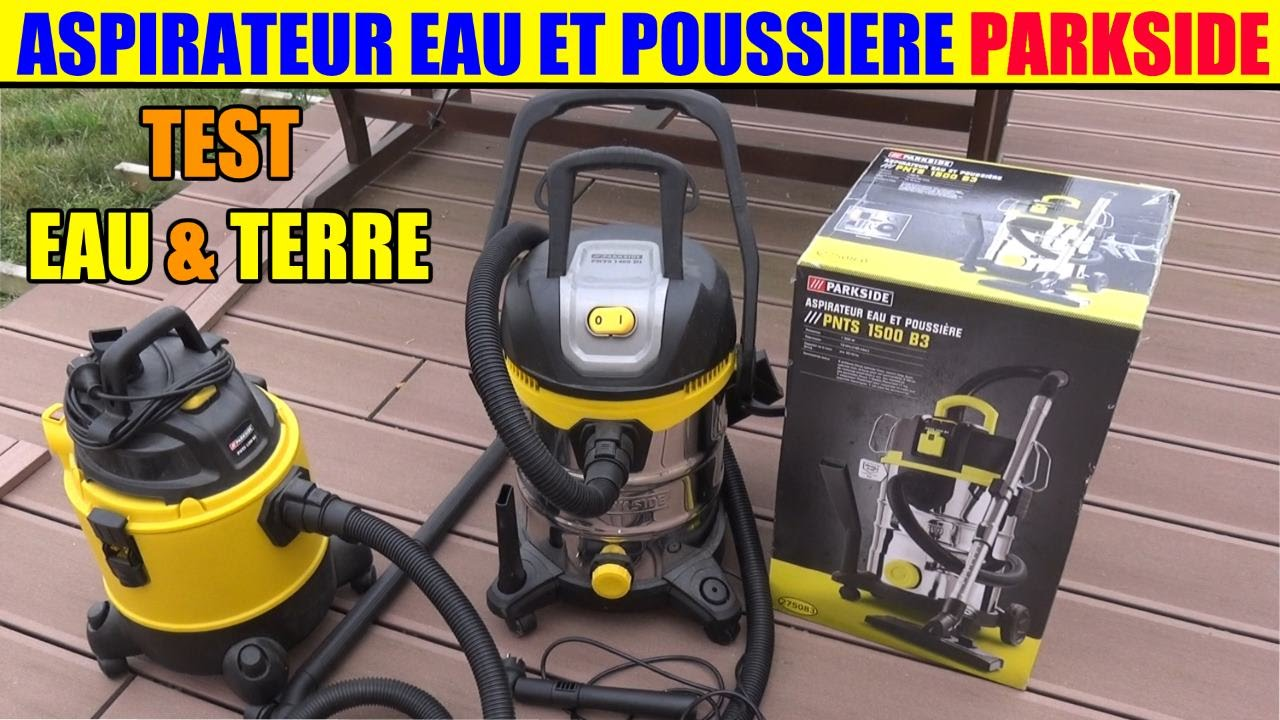 aspirateur eau et poussiere parkside lidl pnts 1500 1400 1300 test youtube. Black Bedroom Furniture Sets. Home Design Ideas