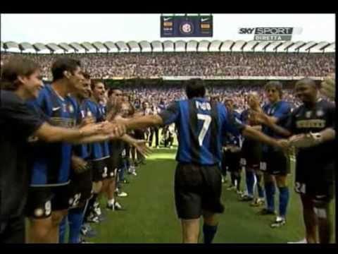 Luis Figo Capitano dell'Inter (Inter vs Atalanta 31.05.2009)