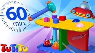 Repeat youtube video TuTiTu Specials | Hammer Bench Toy | And Other Learning Toys | 1 HOUR Special