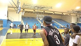 IRL Basketball with Jabari + NBA SuperStar GRANT HILL!!! - VLOG