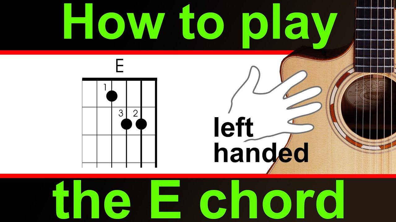 Left Handed Play The E Chord How To Play E Major Guitar Chord