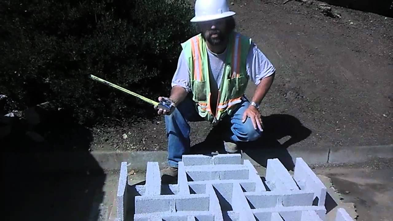 Making Masonry Grout Samples on site for Construction Projects ...